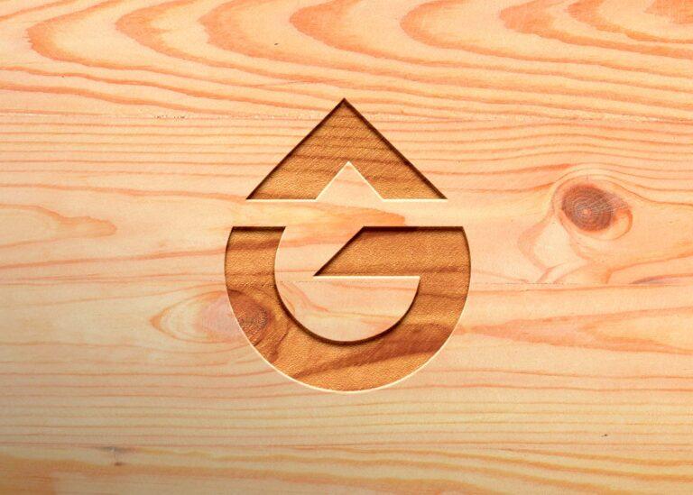 Free Pure Wooden 3D Logo Mockup
