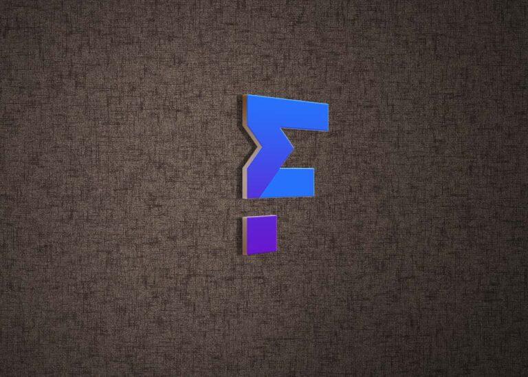 Free Quite Realistic 3d logo mockup