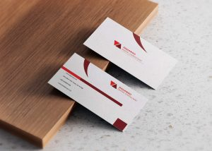 Free Red Visiting Business Card Design