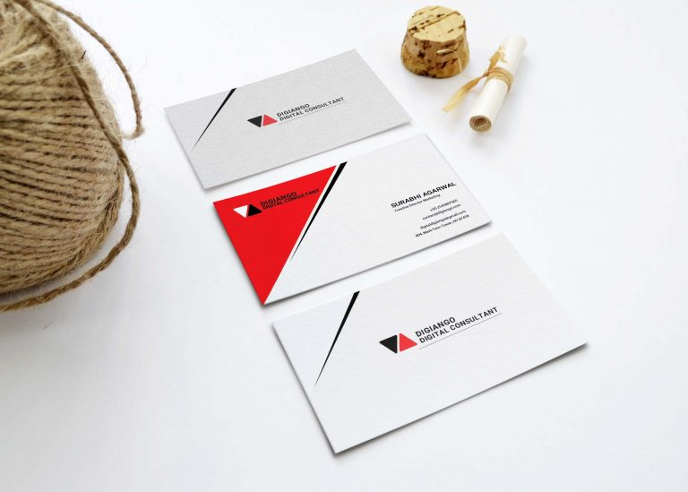 Free Red _ White Business Card Design