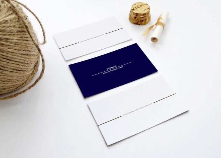 Free Royal N White Business Card Design