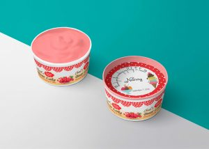 Yummy Flavoured Ice Cream Cup Mockup