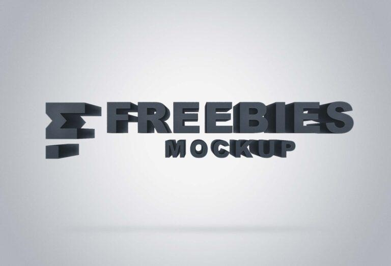 Free Sunshine 3D Logo Mockups