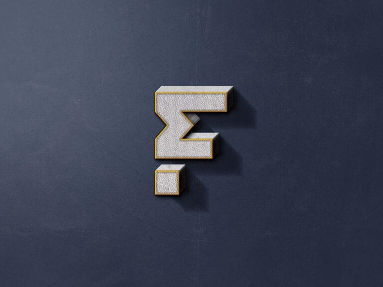 Free Visual 3D Logo Mockup