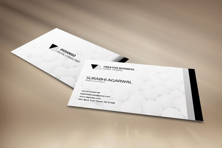 Free Whitish Business Card Design