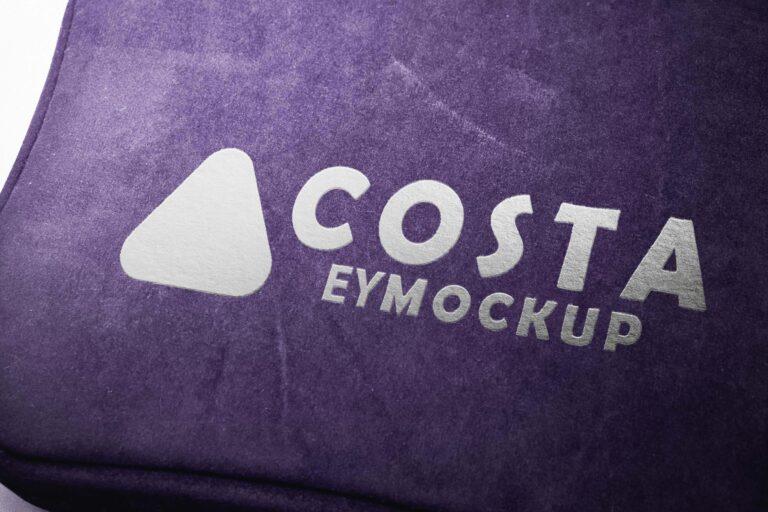 Velvet Costa Bag Logo Mockup