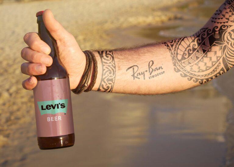 Levi's Beer Mockup
