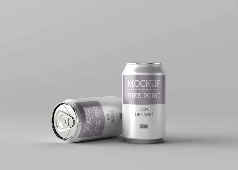 Organic Beer Can Mockup