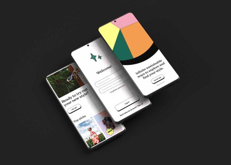 Business Promo App View Mockup
