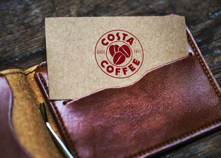 Costa Coffee Wallet Card Mockup