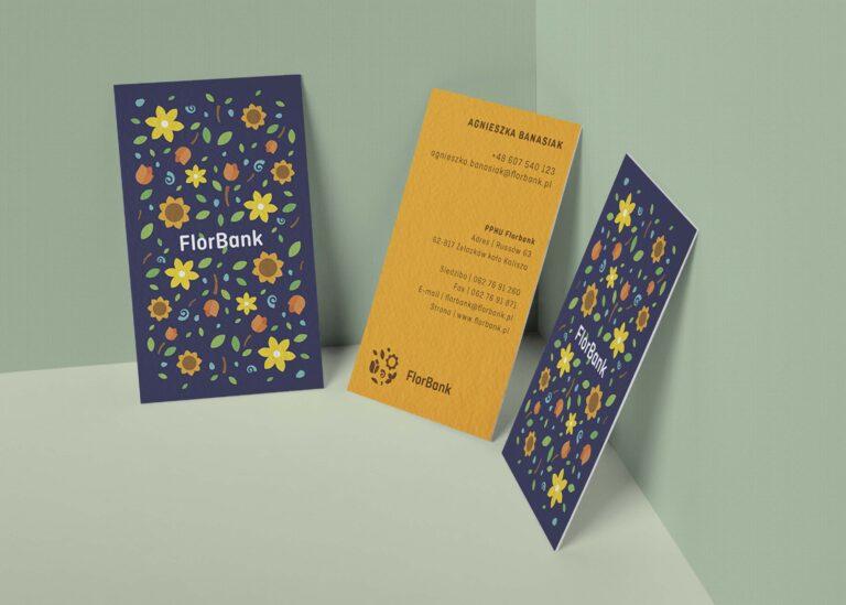 FlorBank Business Card Mockup
