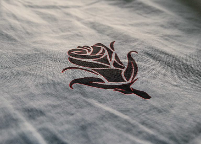 Basic Cloth Texture Logo Mockup