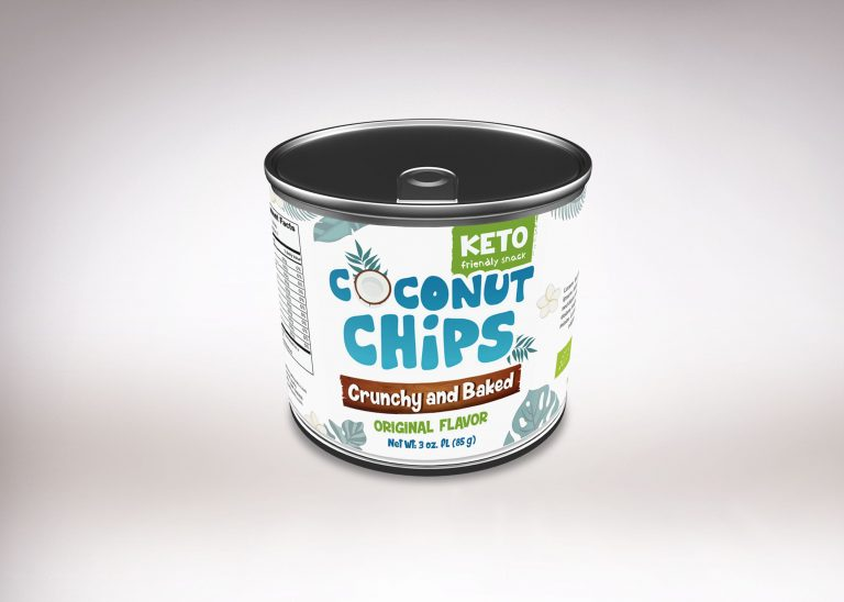 Coconut Chips Can Mockup