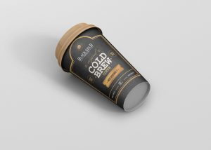 Cold Brew Coffee Cup Mockup
