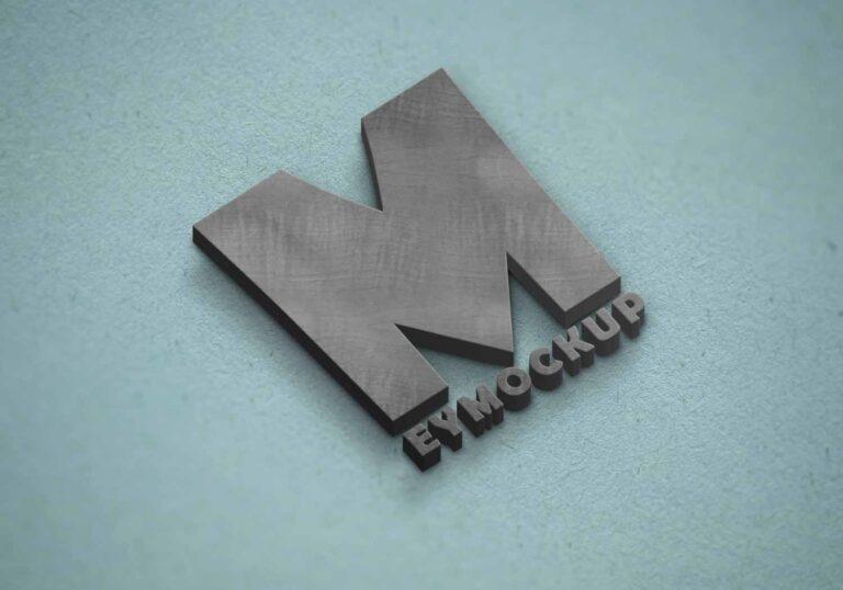 Concrete 3D Logo Mockup