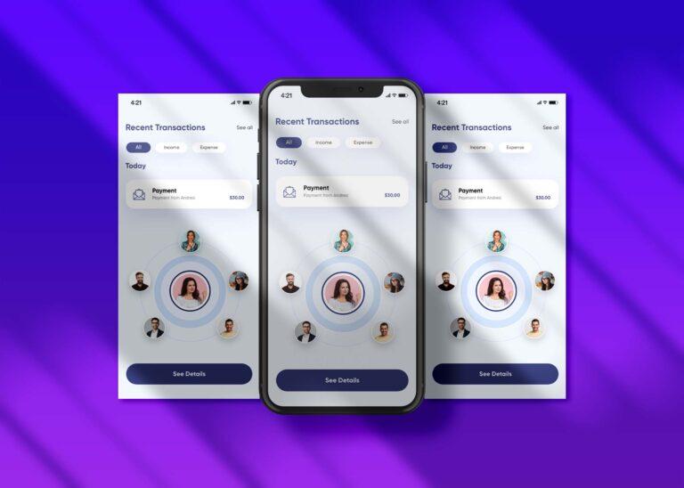E-commerce App Interface Mockup
