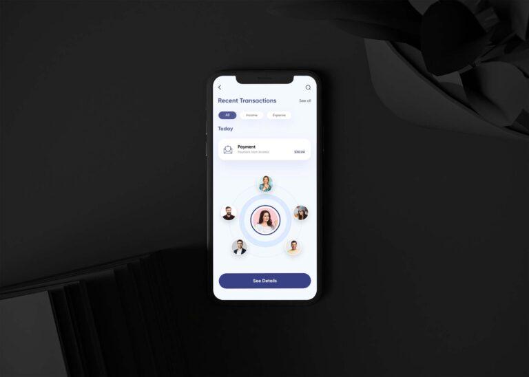 iOS Mobile App View Mockup