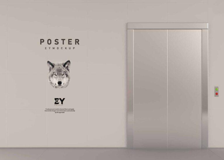 Eymockup's Elevator Poster Mockup