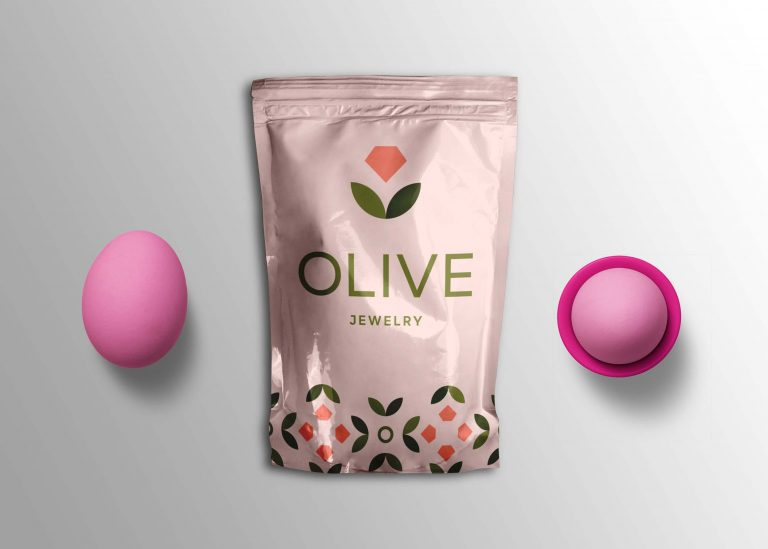 Olive Jewelry Pouch Mockup