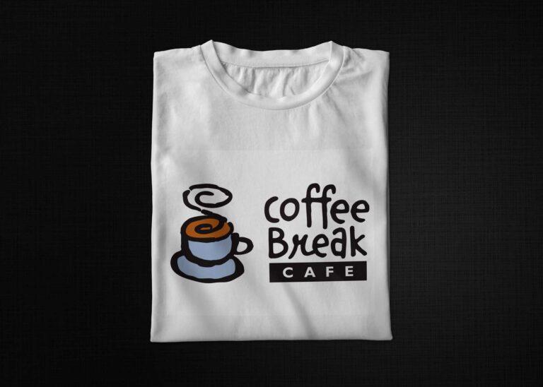 Coffee Break print T-shirt Mockup