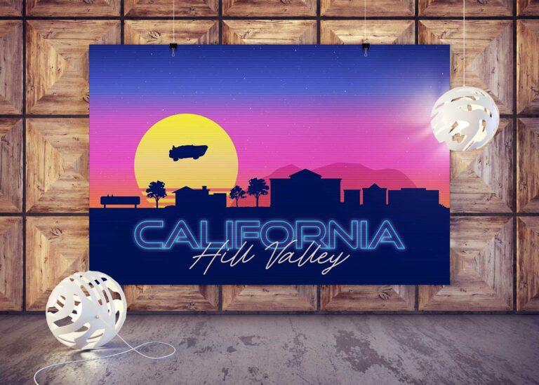 California Poster Mockup
