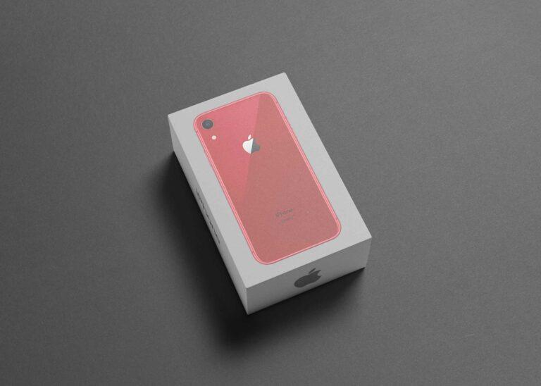 Rose Gold iPhone Box Mockup
