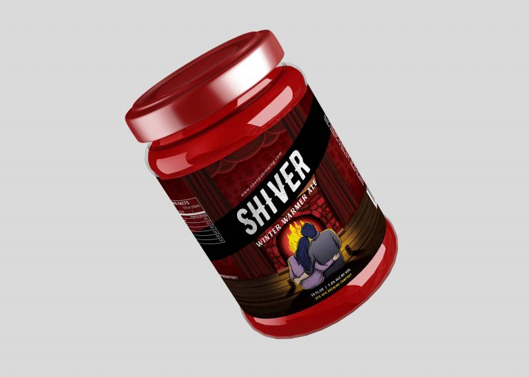 Shiver Jam Jar Mockup