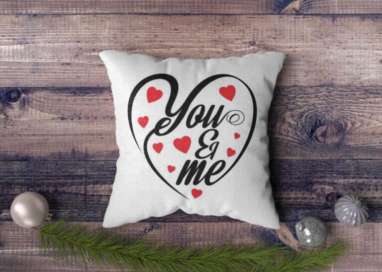 Love Print cushion Mockup