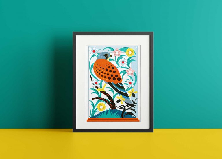 Beautiful Bird Frame Poster Mockup