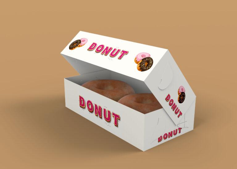 Dunkin Donut Box Mockup