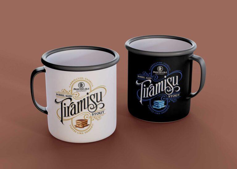 Tiramisu Organic Tea Cup Mockup