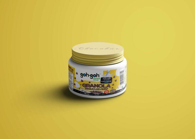 Choco Crunch Jar Mockup