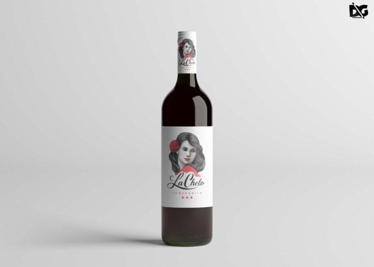 La Chelo Wine Bottle Mockup
