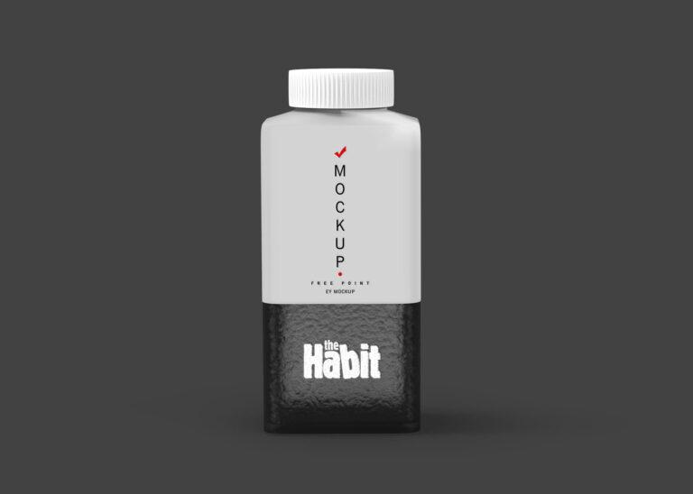 The Habit Juice Label Design Mockup