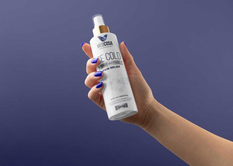 Medcosa Pain Relief Spray Bottle Mockup