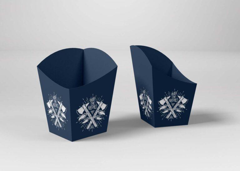 Popcorn Blue Box Design Mockup