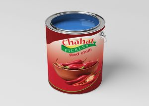 Red Chilli Pickle Can Mockup