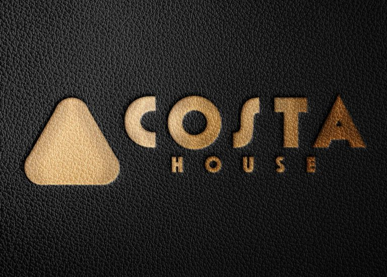 Black Leather Logo Mockup