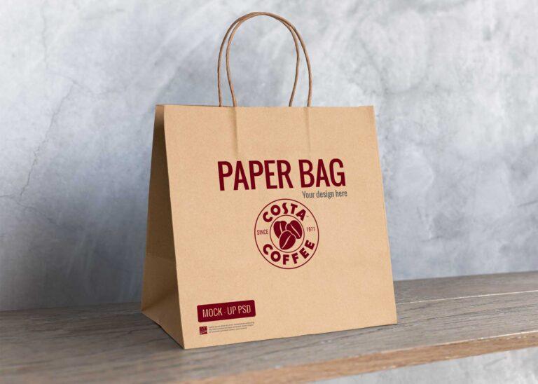 Cafe Paper Bag Mockup