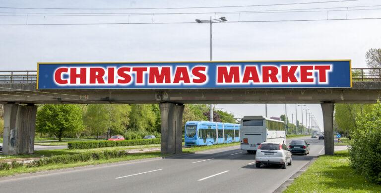 Two Way Road Billboard Mockup
