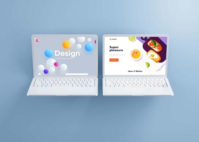 Website Showcase MacBook Pro Mockup