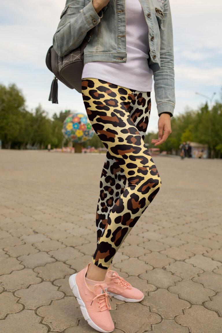 Leopard Printed Leggings Mockup
