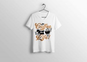 Coffee For Life T-shirt Design