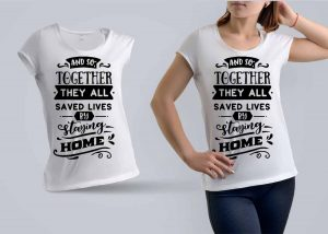 Staying Home T-shirt Design (1)