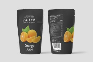 Free Fruit Pouch Mockup