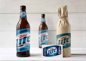 Free Brown Paper Cover Bottle Mockup